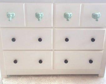 Elephant Knob - Drawer Pull - Cabinet Knob - Safari Nursery - Dresser Knob - Elephant Decor - Nursery Decor - Animal Knob - Elephant Drawer