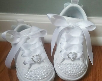 Pearl Converse Shoes For Toddler Girls