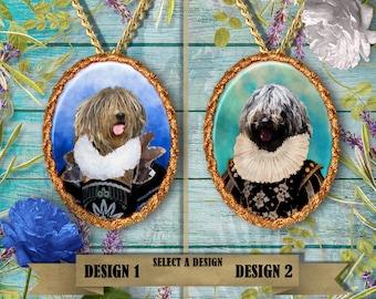 Bergamasco  Jewelry. Bergamasco  Pendant or Brooch. Bergamasco Necklace. Bergamasco Portrait. Custom Dog Jewelry by Nobility Dogs