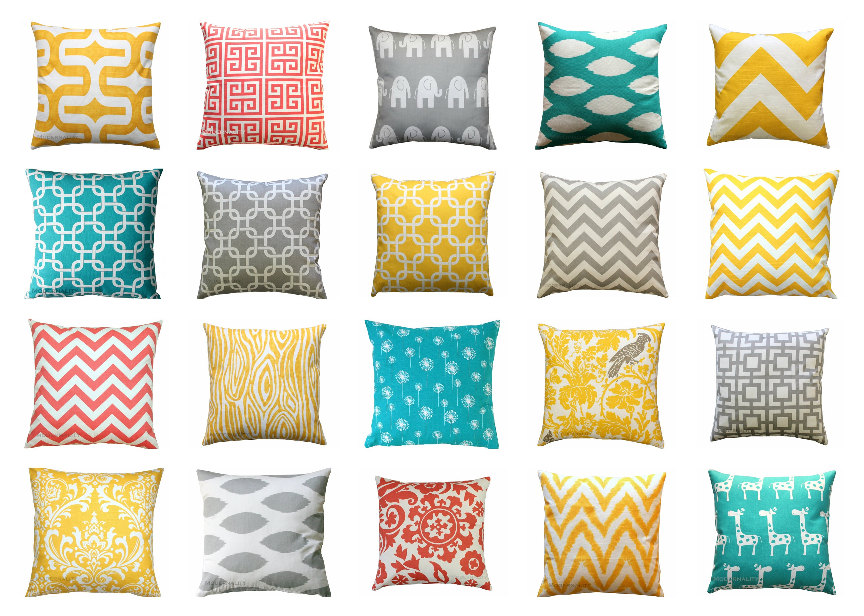 Navy blue and yellow decorative pillows - Clearance Yellow Pillow Cover Coral Throw Pillow Turquoise Pillow Case Grey Couch Pillows