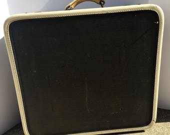 Square Vintage Dark Blue Luggage