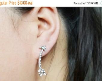 SALE Boho Silver Arrow Earrings