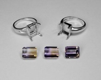 Ametrine Ring Choice in Silver, 10 x 8 mm