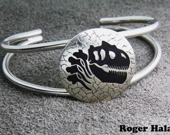 Allosaurus Skull Bracelet, Sterling Silver
