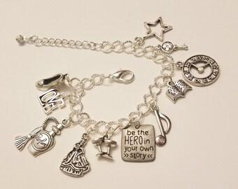 Angelica Schuyler Inspired Charm Bracelet Musical Love Music History Alexander Hamilton Arron Burr