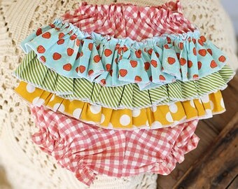 Berry Farmers Market Ruffle Baby Bloomers