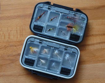 Fly fishing 12-Pack of trout fishing flies with fly box, western selection, Nice Fisherman's Gift for any occasion