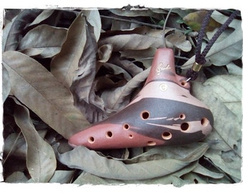 Ocarina 12 holes Alto C. Zelda song of time .Music Instrument Dinda Alto C Handmade ceramic ocarina.Dinda ocarina.