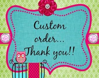 Custom order for Jordana Z for 4 in 1 nursing cover to coordiante with bedding set