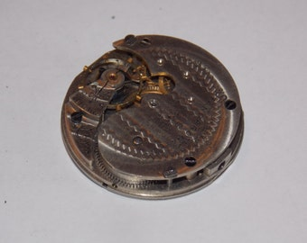 Antique 35mm Etched Pocket Watch Movement