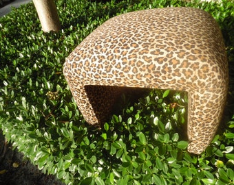 Get YOUR CLAWS OUT! Cool Leopard Printed Waterfall Vanity Stool / Perfect Condition / Eclectic Decor