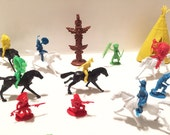 Cowboys and Indians Toys - Vintage Action Figures - Wild Wild West Toy - Mid Century Figurine