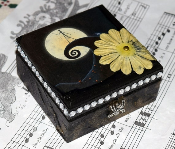 Mini Yellow Moon Nightmare Before Christmas Decorative Box