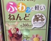 Daiso Japan Mint Green Color Soft Modeling Clay Made in Japan