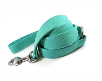 Patina Aqua Green Dog Leash
