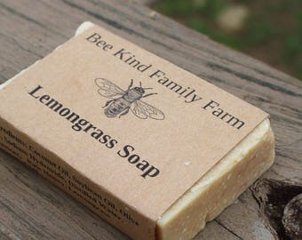 Lemongrass Soap cold Process Soap made with Honey and Beeswax