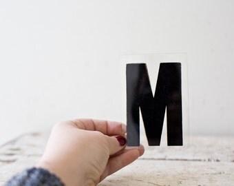 Vintage Letter M - Black Marquee Plastic Letter M Vintage Marquee Sign Vintage Sign M Sign