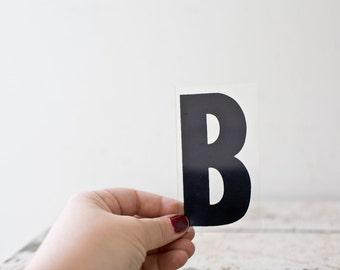 Vintage Letter B - Black Marquee Plastic Letter B Vintage Marquee Sign Vintage Sign B Sign