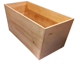 Maple Standalone rectangular Ofuro Bathtub - solid Wood
