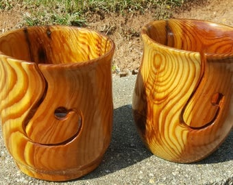 Recycled Heartwood pine Yarn Bowl