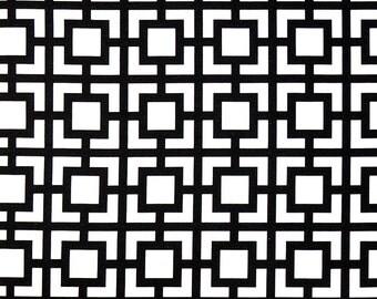 Black White Geometric Gigi Curtains  Rod Pocket  63 72 84 90 96 108 120 Long x 25 or 50 Wide