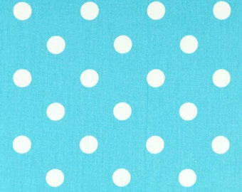 Girly Blue and White Polka Dot Curtains  Rod Pocket  63 72 84 90 96 108 or 120 Long by 24 or 50 Wide