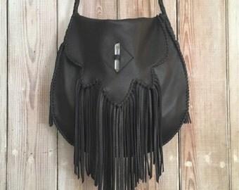 Sierra Fringe Bag with Crystal or Concho
