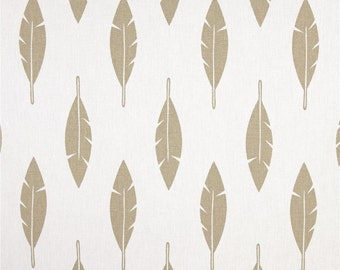 "Two  96"" x 50""  Custom Curtain Panels - Rod Pocket Panels -  Feathers Gold Tone"