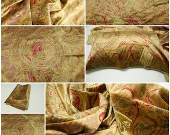 "Lee Jofa Threads-Italian Upholstery Velvet-Extravagance Gold-pc 56"" w x35""Long-Italian  Paisley Velvet- Luxury Fabric-ED85066-FREE SHIPPING"