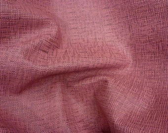 "Leather 8""x10"" TANGO Pink Burlap Basket / Canvas Weave Pattern Cowhide 2.5oz / 1 mm PeggySueAlso™"