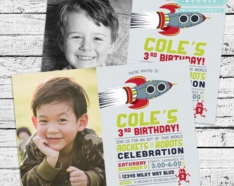 Rocket Birthday Party Photo Invitation + Our 4 Favorite Printables!