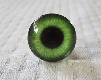green glass eyes for jewelry and crafts