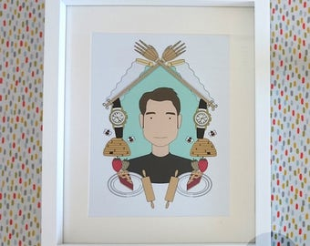 Limited edition Pushing Daisies Ned print