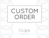 Custom Order or Vanessa: Silver floating bar necklace