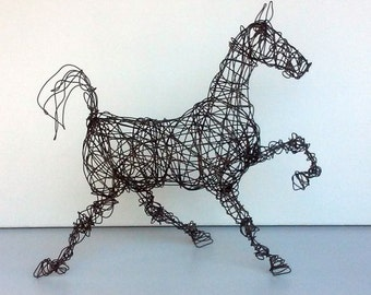 Unique Wire Horse Sculpture - SADDLEBRED