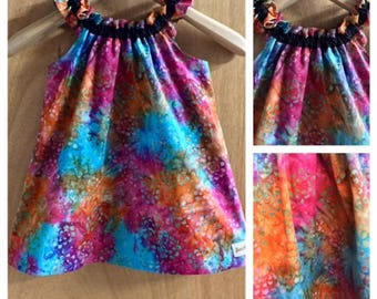 Hippie/Boho Batik Summer Dress, size 2t