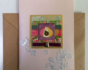 Patchwork Pattern with a Purse and a Charms Card  - Korean Traditional Design