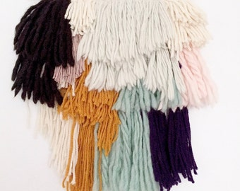 Medium Colorful Fringe Weaving / Hand Woven Wall Hanging / Woven Tapestry