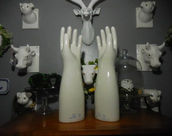 Porcelain Rubber Glove Mold Pair
