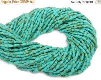 45% off Liquidation SALE Turquoise Beads-- Chinese Turquoise 6mm x 3mm Beads - 1 or 5 Strands (S64B24-02)