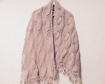 Free Ship Shawl, Wrap, Hand Knit Shawl, Usa Seller