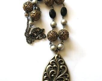 Vintage ornament Necklace