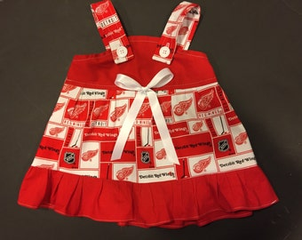 NHL Detroit Red Wings hockey Baby Infant Toddler Girls Dress  You Pick Size