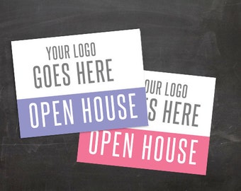 ADD LOGO Yard Sign 27x18 and 24x18 JPG Pop-Up Open House Launch Party Fashion Consultant Retailer Boutique