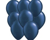 Navy Blue Balloons 11 inch Balloons / Pearl Midnight Blue Balloons / Photo Props Weddings Birthdays Bridal Shower Baby Shower