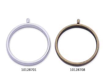 10 Metal Round frame 28.5*28.5*4mm open back pendant trays Resin Setting Blanks