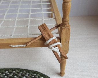 Colonial Bed Key in 1:12 Scale for Dollhouse Miniature Prairie Cabin