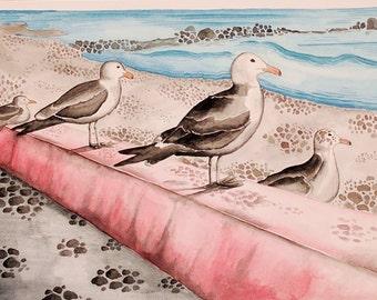 California Coastal - Original Watercolor