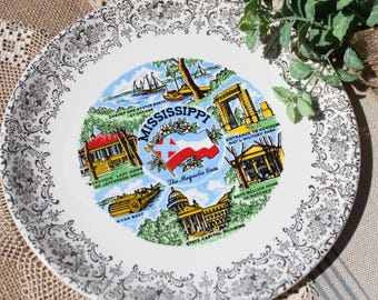 Mississippi State Plate Souvenir plate The Magnolia State