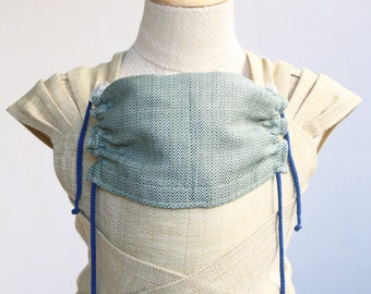 Wrap Conversion Meh Dai carrier - BaBy SaBye handwoven wrap mei tai sling with a hood - wear your baby NATURAL DYES cotton/linen/hemp